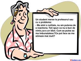 Un student merse la profesorul sau cu o problema: