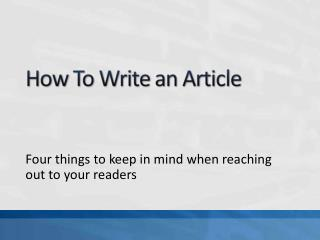 Four things to keep in mind when reaching out to your readers