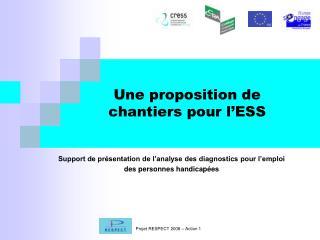 Une proposition de chantiers pour l'ESS