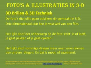 Foto's  &  illustraties  in 3-D