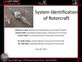 System Identification  of Rotorcraft