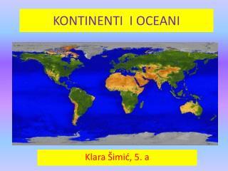 KONTINENTI  I OCEANI
