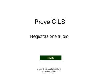 Prove CILS