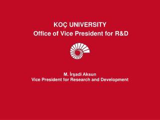 M. İrşadi Aksun Vice President for Research and Development