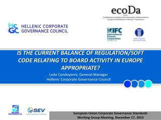 IS THE CURRENT BALANCE OF REGULATION/SOFT CODE RELATING TO BOARD ACTIVITY IN EUROPE APPROPRIATE?