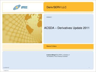 ACSDA – Derivatives Update 2011