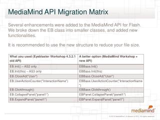MediaMind API Migration Matrix
