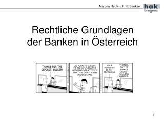 Rechtliche Grundlagen der Banken in Österreich