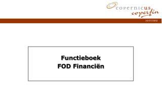 Functieboek FOD Financiën
