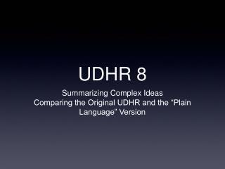 UDHR 8