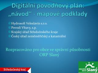"""Digitální povodňový plán: """"návod"""" - mapové podklady"""