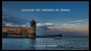 COULEURS  DES  PAYSAGES  DE  FRANCE