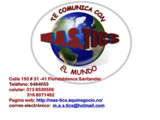M.A.S. TIC's Te Comunica con el Mundo