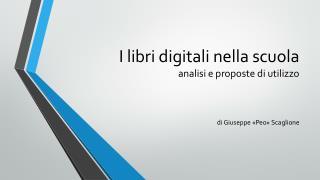 I libri digitali nella scuola analisi e proposte di utilizzo