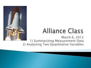Alliance Class