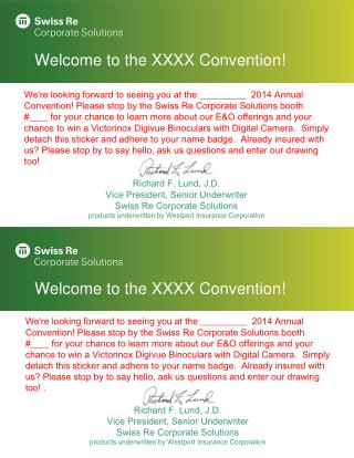 Welcome to the XXXX Convention !
