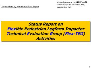 Status Report on