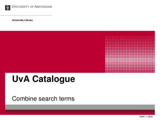 UvA Catalogue