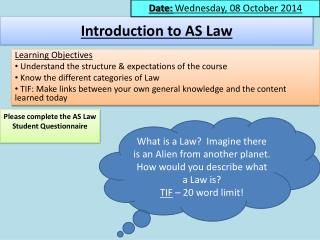 Introduction to AS Law