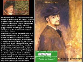 """Los cuadros con el icono pertenecen a la exposición  """"Pasión por Renoir""""."""