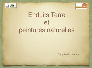 Enduits Terre et  peintures naturelles