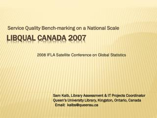 LibQUAL Canada 2007