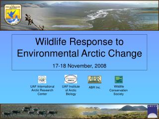 Wildlife Response to Environmental Arctic Change