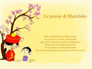 Le poesie di  Marichiko