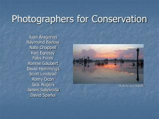 Photographers for Conservation