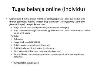 Tugas belanja  online ( individu )
