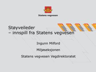St yveileder    innspill fra Statens vegvesen