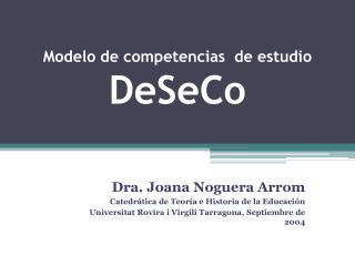 Modelo de competencias  de estudio  DeSeCo