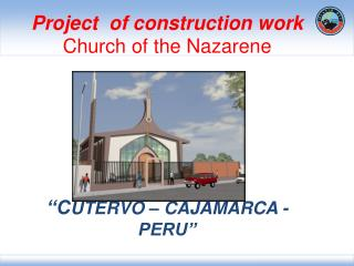 Project  of construction work  Church of the Nazarene