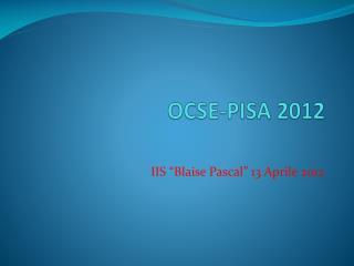 OCSE-PISA 2012