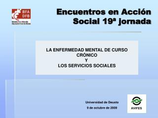 Encuentros en Acción  Social 19ª jornada