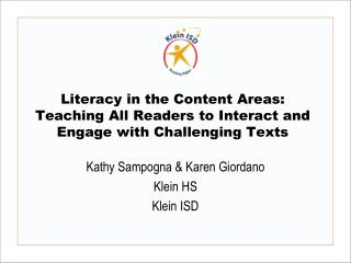 Literacy in the Content Areas: Teaching All Readers to Interact and Engage with Challenging Texts