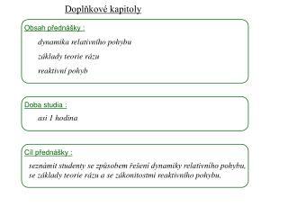 Dynamika I, 1 3 . přednáška