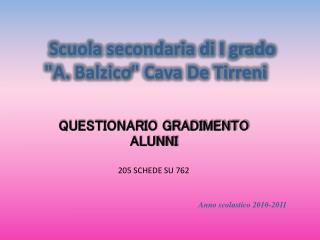 "Scuola secondaria di I grado  ""A.  Balzico "" Cava De Tirreni"