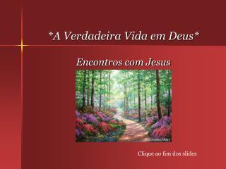 *A Verdadeira Vida em Deus* Encontros com Jesus