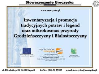 Projekt współfinansowany  z Europejskiego Funduszu Rozwoju Regionalnego