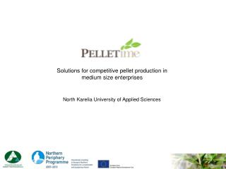 Solutions for competitive pellet production in medium size enterprises