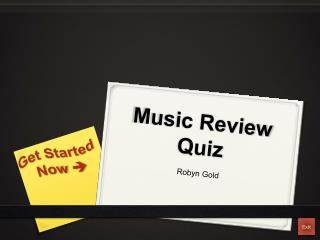 Music Review Quiz