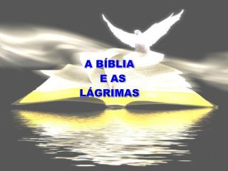 A BÍBLIA   E AS LÁGRIMAS