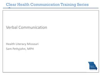 Clear Health Communication Training Series