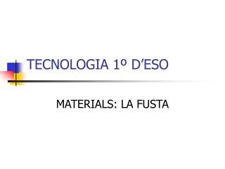 TECNOLOGIA 1� D�ESO