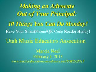 Making an Advocate  Out of Your  Principal :