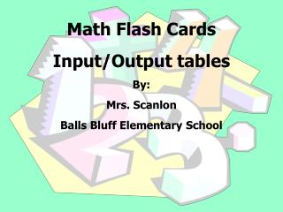 Math Flash Cards  Input