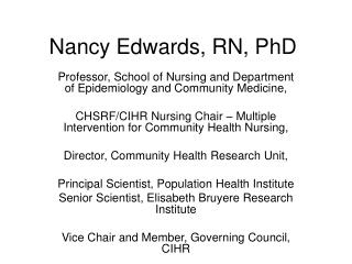 Nancy Edwards, RN, PhD