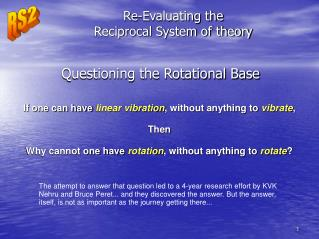 Re-Evaluating the Reciprocal System of theory