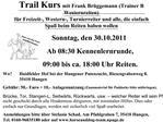 Trail Kurs mit Frank Br ggemann Trainer B Westernreiten f r Freizeit-, Western-, Turnierreiter und alle, die einfach Spa